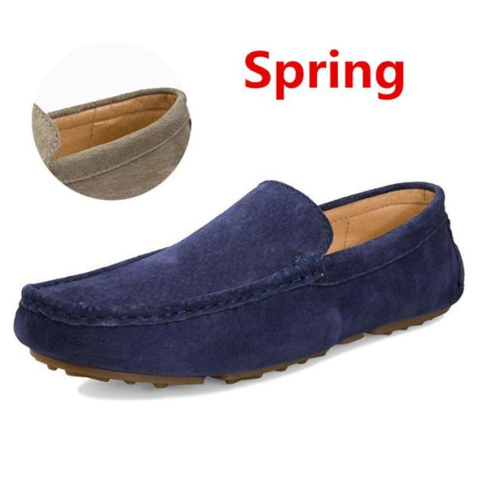 Fashion Mens shoes breathable moccasins comfortable - spring blue / 38 - Loafers