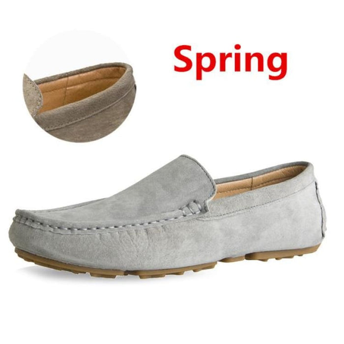 Fashion Mens shoes breathable moccasins comfortable - spring gray / 38 - Loafers