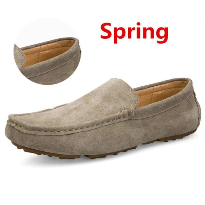 Fashion Mens shoes breathable moccasins comfortable - spring khaki / 38 - Loafers