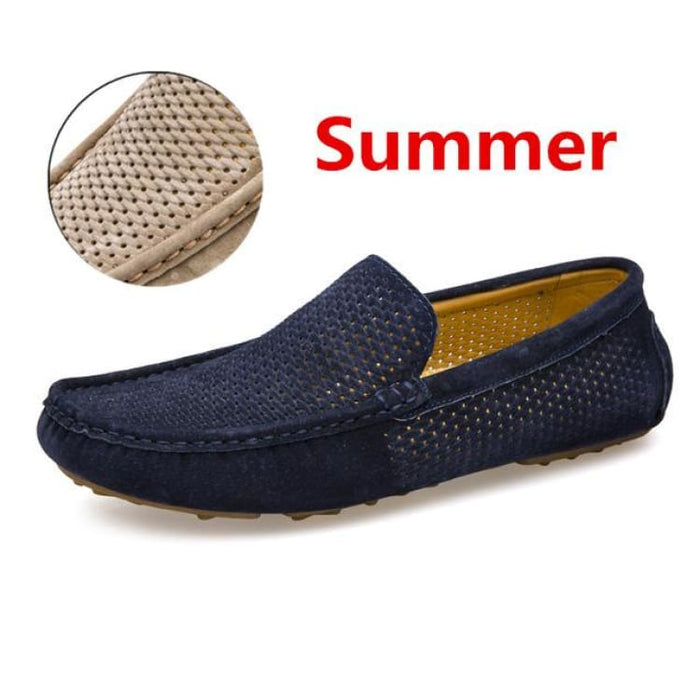 Fashion Mens shoes breathable moccasins comfortable - summer blue / 38 - Loafers