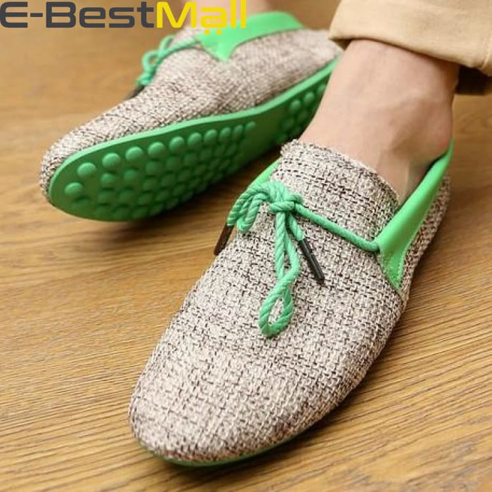 Fashion Mens Summer Loafer - Green / 6.5 - Mens Casual Shoes