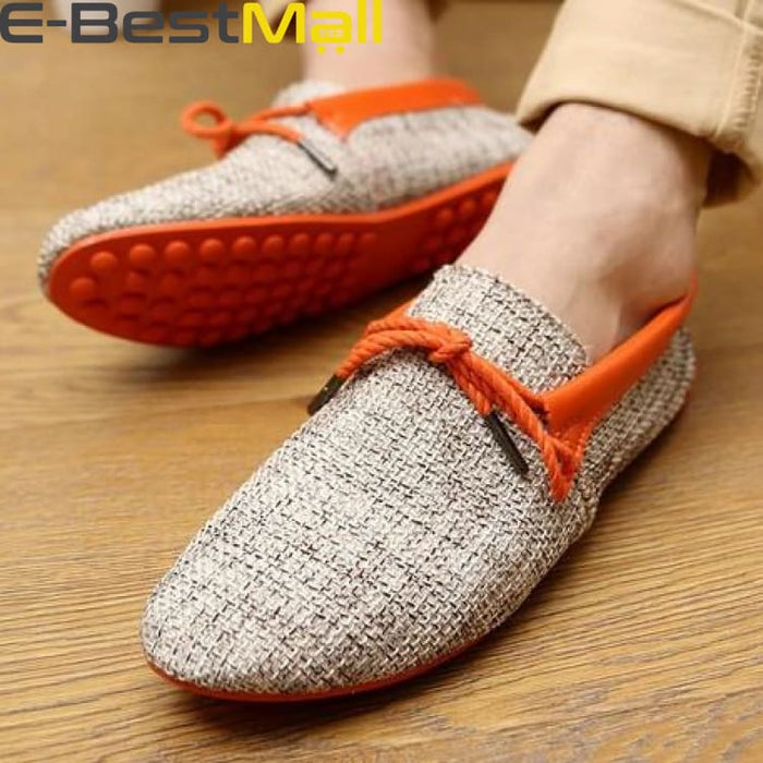 Fashion Mens Summer Loafer - Orange / 6.5 - Mens Casual Shoes