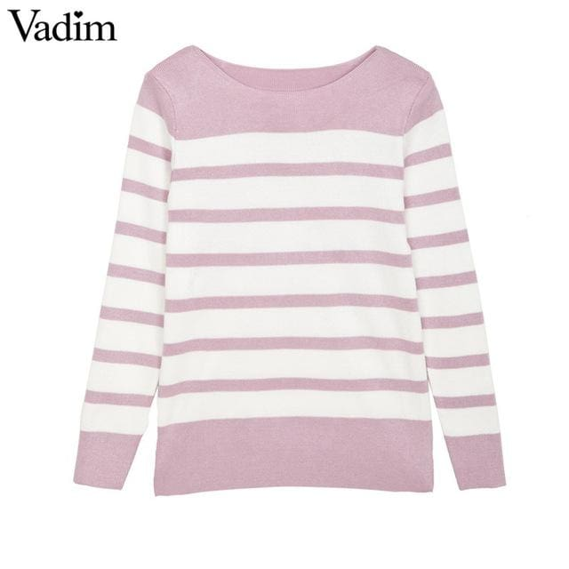Fashion striped sweater - as picture 1 / One Size - sweater