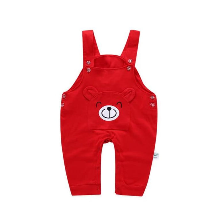 Fashion Suspender Baby Pants - kz1709 red / 6M - Pants