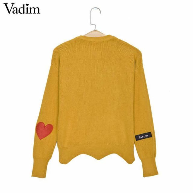 Fashion sweaters with cute heart for womens 2018 - Sweaters