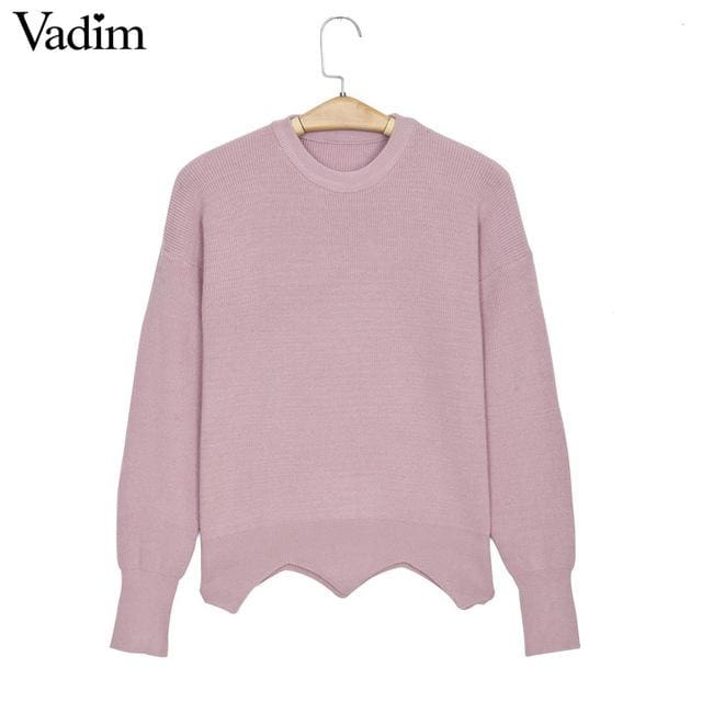 Fashion sweaters with cute heart for womens 2018 - Pink / One Size - Sweaters