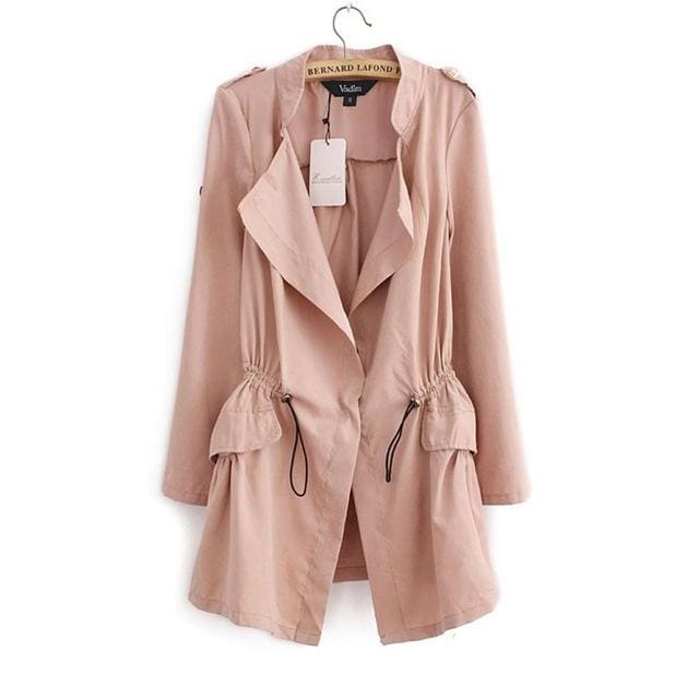 Fashion Trench Coat 2018 - Pink / L / China - Trench