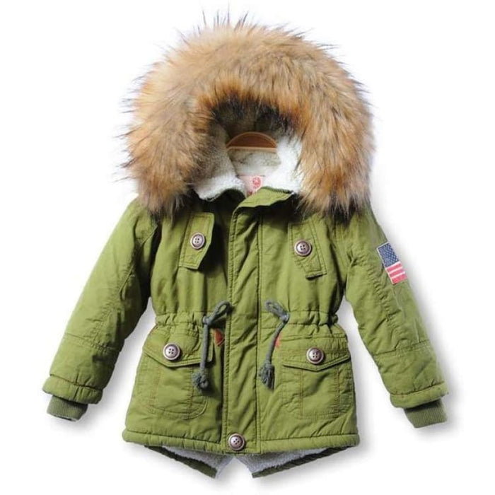 Fashion Unisex Coat Hooded - green / 2T - Jackets & Coats