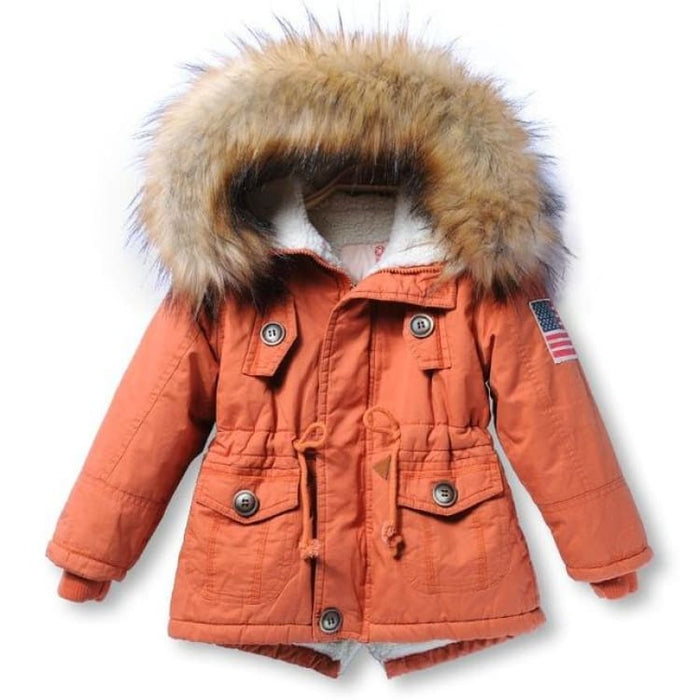 Fashion Unisex Coat Hooded - orange / 2T - Jackets & Coats