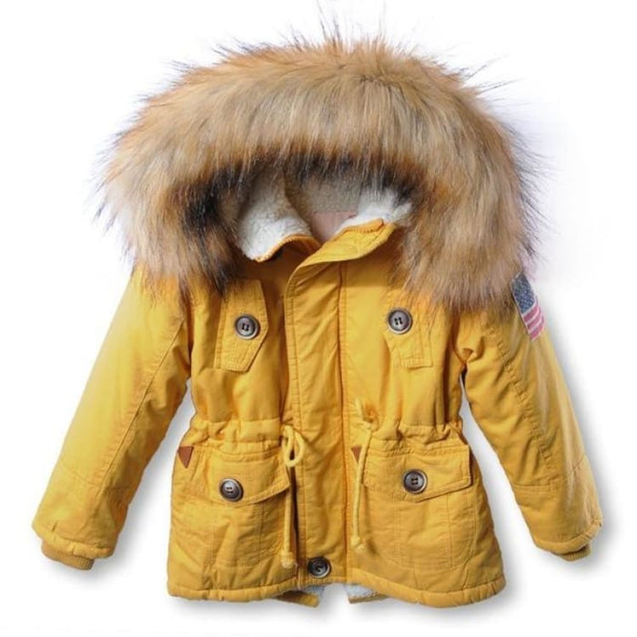 Fashion Unisex Coat Hooded - yellow / 2T - Jackets & Coats