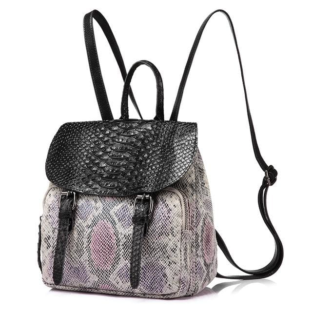 Fashion women backpack high quality with Split Leather - Purple / Russian Federation / 15 Inches - Backpack
