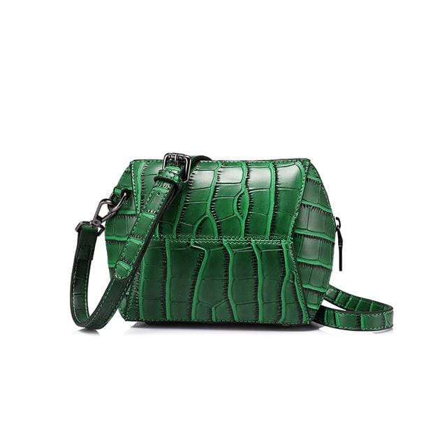 Fashion women crossbody bag 2018 female high quality patchwork shoulder messenger bag Red/Green/Brown/Nude Pink - Green / China - Handbags