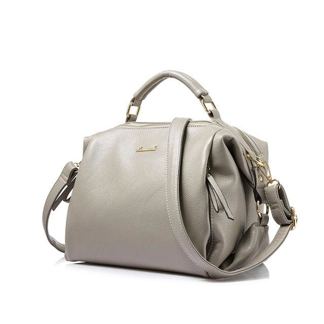 Fashion women handbag female shoulder bag high quality soft ladies crossbody bag 2018 PU - Gray / China / (30cm<Max Length<50cm) - Shoulder