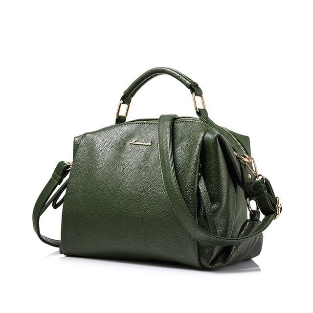 Fashion women handbag female shoulder bag high quality soft ladies crossbody bag 2018 PU - Green / China / (30cm<Max Length<50cm) - Shoulder