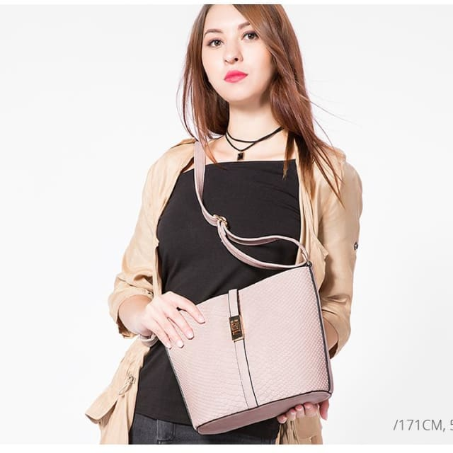 Fashion women messenger bag female zipper shoulder bag large capacity alligator print crossbody bag Pink/Blue - Shoulder Bags