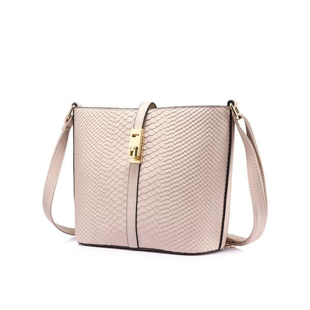 Fashion women messenger bag female zipper shoulder bag large capacity alligator print crossbody bag Pink/Blue - Pink / China / (20cm<Max