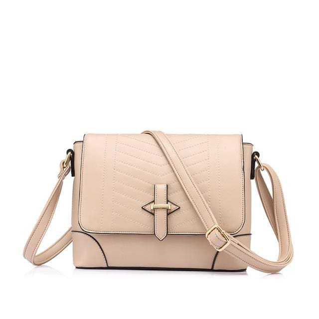 Fashion women messenger bags female small crossbody shoulder bags high quality solid artificial leather handbag 2018 - Apricot / China /