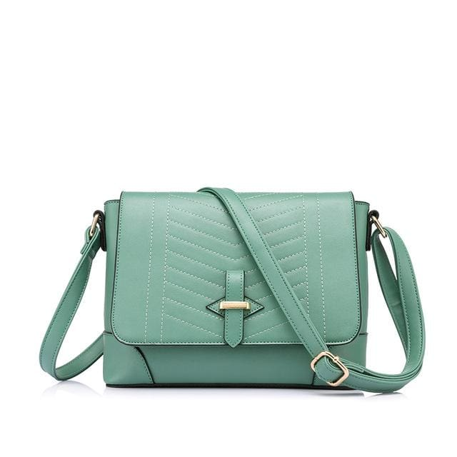 Fashion women messenger bags female small crossbody shoulder bags high quality solid artificial leather handbag 2018 - Army Green / China /