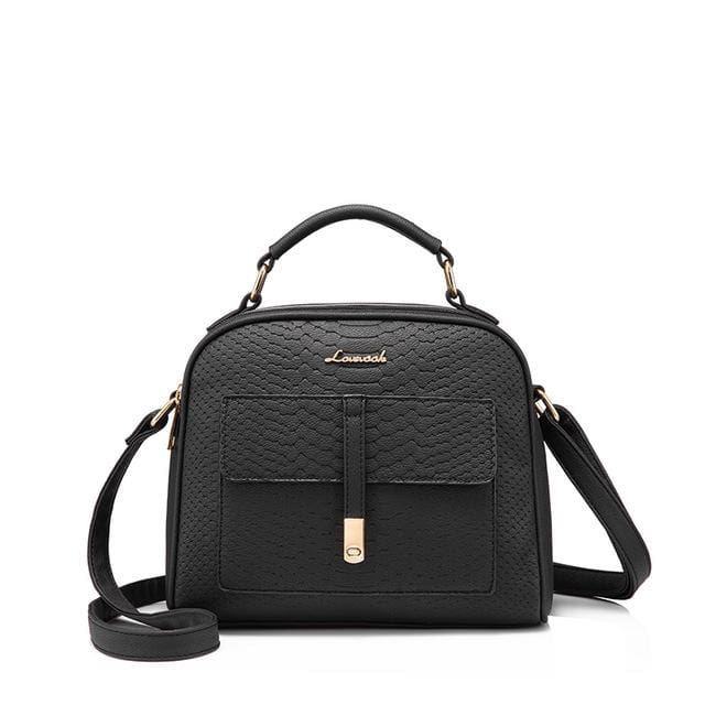Fashion women shoulder bag 2018 female crossbody bag high quality ladies handbag flap with thread - Black / China / (20cm<Max Length<30cm) -