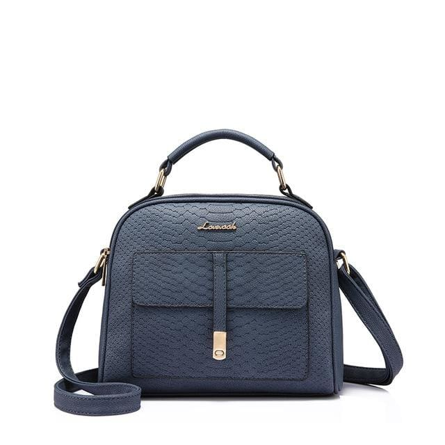Fashion women shoulder bag 2018 female crossbody bag high quality ladies handbag flap with thread - Deep Blue / China / (20cm<Max