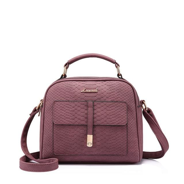 Fashion women shoulder bag 2018 female crossbody bag high quality ladies handbag flap with thread - Purple / China / (20cm<Max Length<30cm)