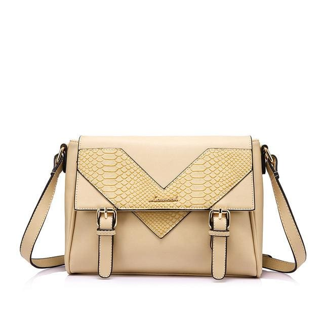 Fashion women shoulder bag female messenger bag high quality ladies crossbody bag satchels serpentine prints - Beige / China / Mini(Max