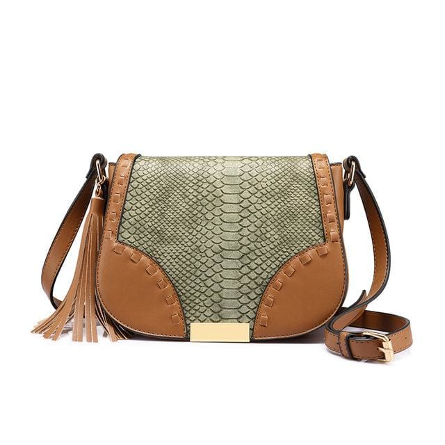 Fashion women shoulder bag female tassel design messenger bag zipper high quality crossbody bag Beige/Brown/Gray - Brown / China / (20cm<Max