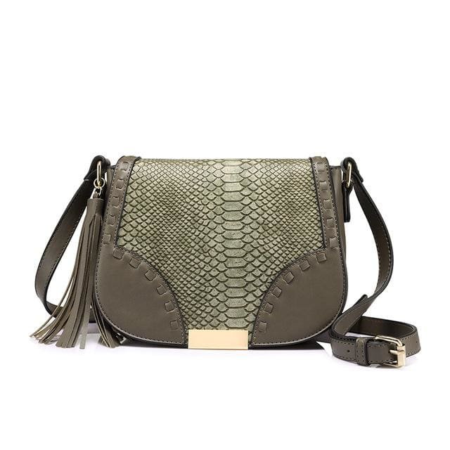 Fashion women shoulder bag female tassel design messenger bag zipper high quality crossbody bag Beige/Brown/Gray - Gray / China / (20cm<Max