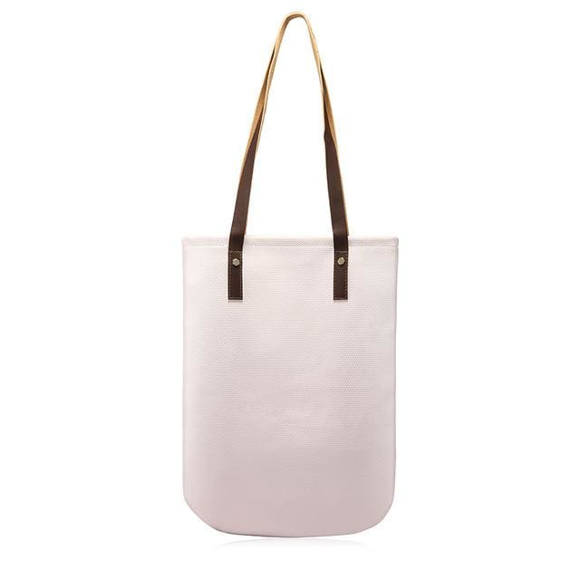 Fashion women shoulder bags 2018 soft female handbag casual tote bag high quality ladies shopping bag large capacity - Beige / China /