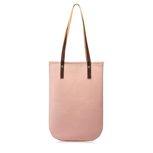Fashion women shoulder bags 2018 soft female handbag casual tote bag high quality ladies shopping bag large capacity - Pink / China /