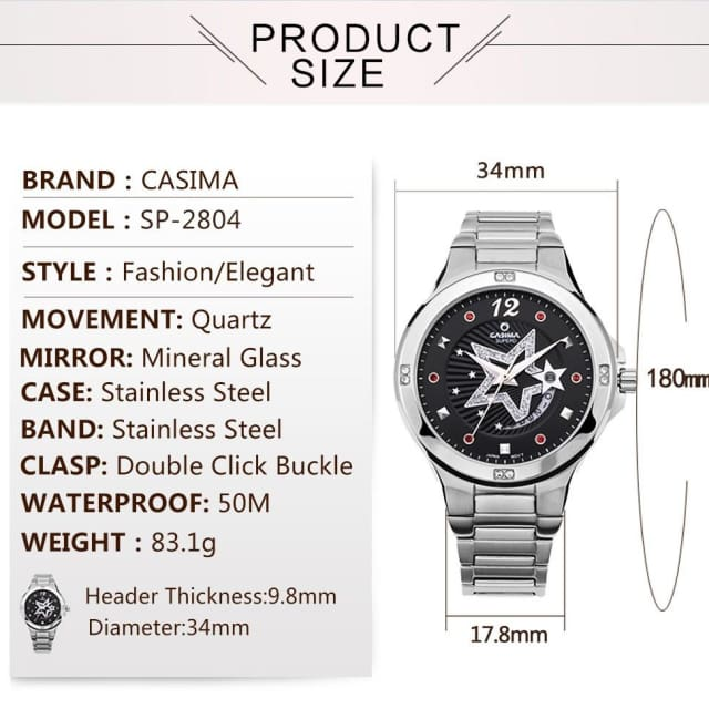 Fashion Women Watch - Quartz & Waterproof - Fashion watch