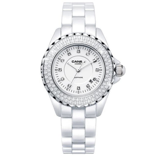 Fashion Women watches 2018 with elegant ceramic White quartz - CA 6702 CD8 - Luxury watche
