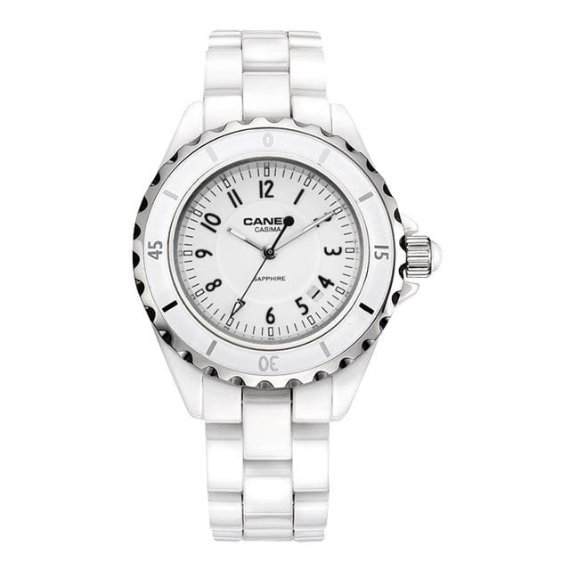 Fashion Women watches 2018 with elegant ceramic White quartz - CA 6702 CW8 - Luxury watche