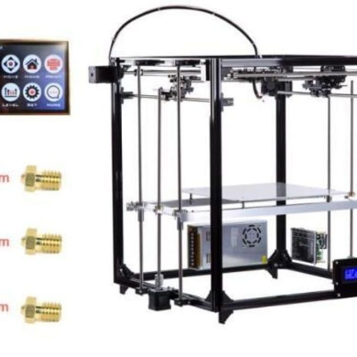 Flsun 3D Printer Double Extruder Version Large Printing Size 260*260*350mm Auto Leveling Heated Bed Touch Screen Wifi Moduel - Touch Screen