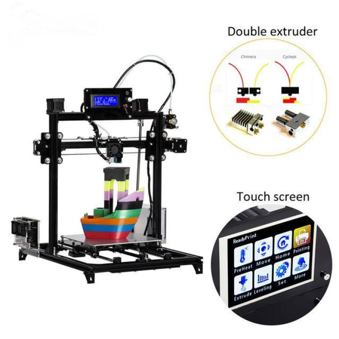 Flsun Large size 3d Printer 300x300x420mm Auto Level Touch Screen Daul Extruder DIY 3D Printer Kit Heated Bed - 3D Printers