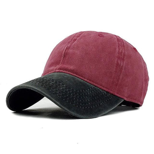 Golf cap For Men / Women - Black Red / Adjustable - Golf Cap