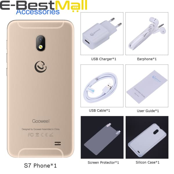 Gooweel S7 Smartphone Face Wake MTK6580 Quad Core 5.0Inch IPS 3G Mobile Phone 5MP Camera GPS Cell Phone unlocked - Smartphone