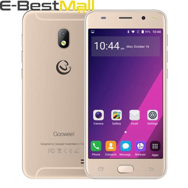 Gooweel S7 Smartphone Face Wake MTK6580 Quad Core 5.0Inch IPS 3G Mobile Phone 5MP Camera GPS Cell Phone unlocked - Standard phone / Gold -