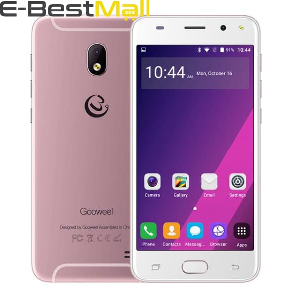 Gooweel S7 Smartphone Face Wake MTK6580 Quad Core 5.0Inch IPS 3G Mobile Phone 5MP Camera GPS Cell Phone unlocked - Standard phone / Pink -