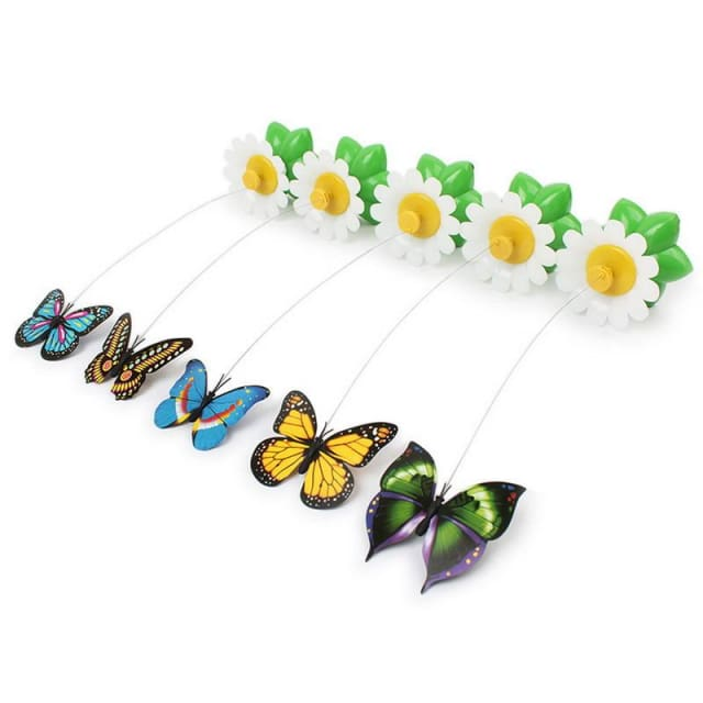 Great Toy for Cats - Electric Rotation Colorful Butterfly / Funny Bird - Cats