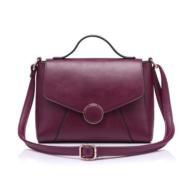 Handbags For women 2018 famous brands high quality shoulder bag fashion zipper crossbody bag women messenger bags - Purple / China -