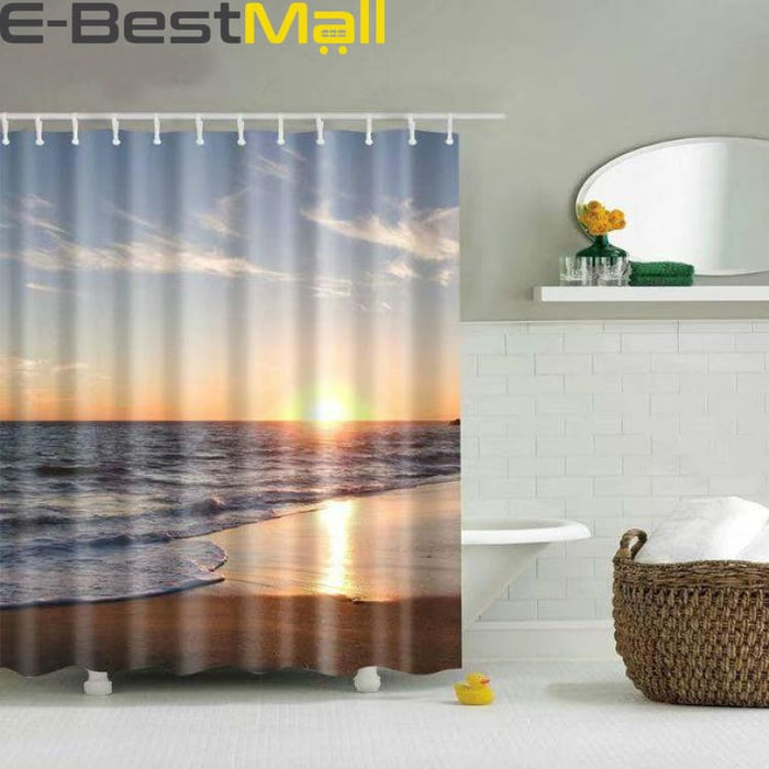 Hawaiian Shower Curtain Waterproof - 1 / 180X180 - Shower Curtains