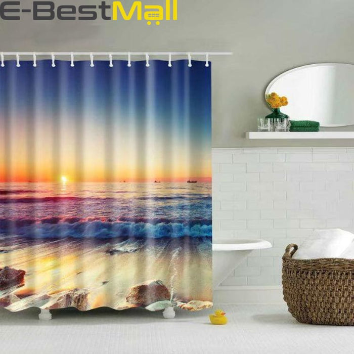Hawaiian Shower Curtain Waterproof - 2 / 180X180 - Shower Curtains