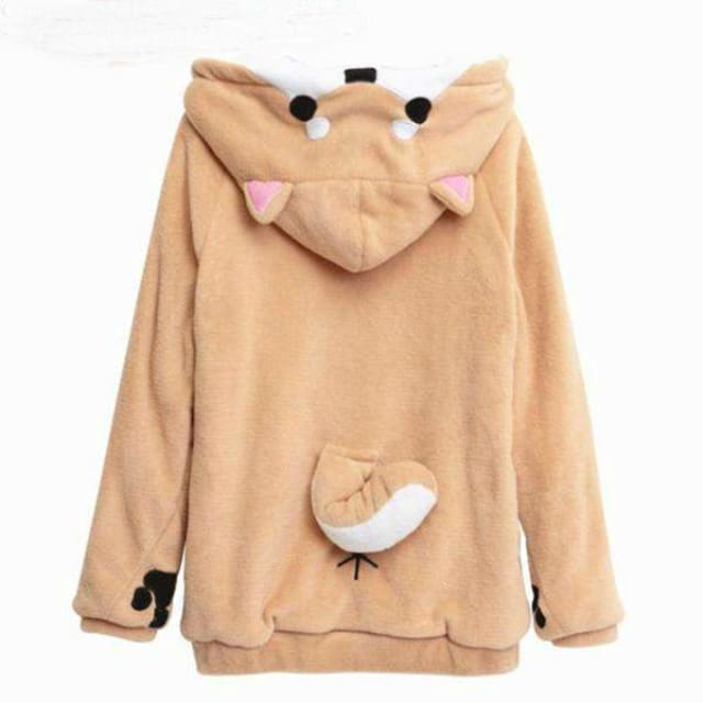 Hoodies Women With Ears Cute Doge - S