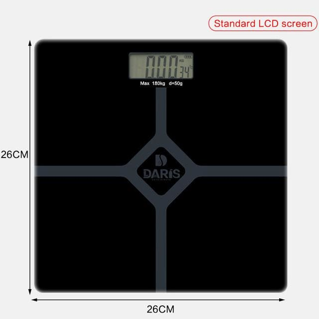 Household Scales For Weight Measuring - 26x26cm black 2 - Bathroom Scales