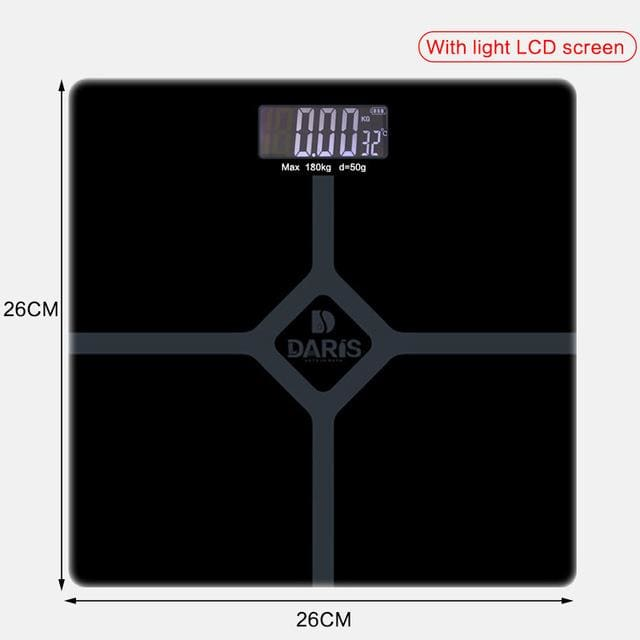 Household Scales For Weight Measuring - 26x26cm black - Bathroom Scales