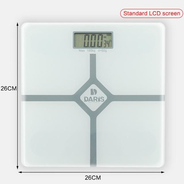 Household Scales For Weight Measuring - 26x26cm white - Bathroom Scales