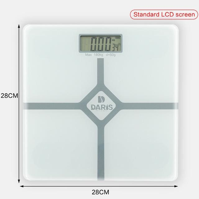 Household Scales For Weight Measuring - 28x28cm white 2 - Bathroom Scales