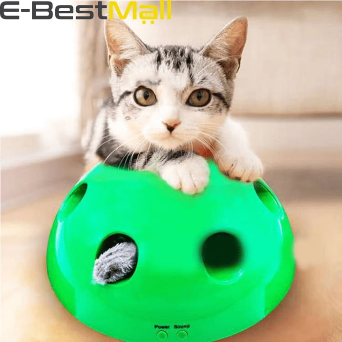 Interactive Cat Toy - Mouse and Feather included - Cats
