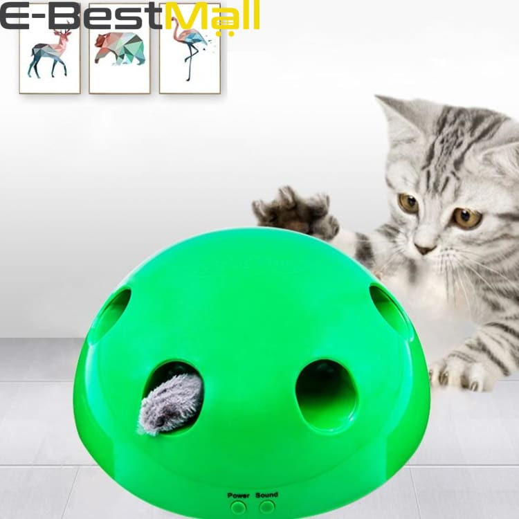 Interactive Cat Toy - Mouse and Feather included - Buy 1 - Cats